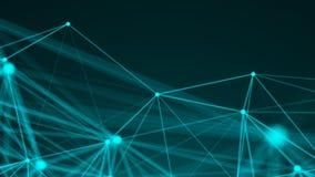 Points abstraits de connexion technologie de planète de téléphone de la terre de code binaire de fond Concept de réseau Photographie stock libre de droits