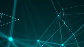 Points abstraits de connexion technologie de planète de téléphone de la terre de code binaire de fond Concept de réseau Photo libre de droits
