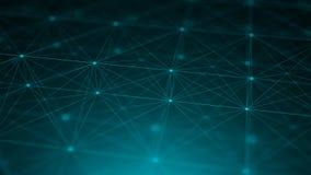 Points abstraits de connexion technologie de planète de téléphone de la terre de code binaire de fond Concept de réseau Image stock