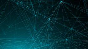 Points abstraits de connexion technologie de planète de téléphone de la terre de code binaire de fond Concept de réseau Image libre de droits