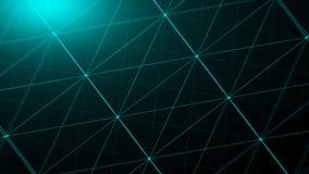Points abstraits de connexion technologie de planète de téléphone de la terre de code binaire de fond Concept de réseau Images libres de droits