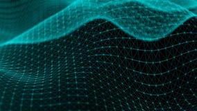 Points abstraits de connexion technologie de planète de téléphone de la terre de code binaire de fond Concept de réseau illustration libre de droits