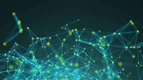 Points abstraits de connexion technologie de planète de téléphone de la terre de code binaire de fond Illustration de Digital Con Photo stock