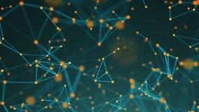 Points abstraits de connexion technologie de planète de téléphone de la terre de code binaire de fond Illustration de Digital Con Photo libre de droits