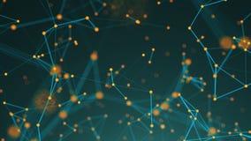 Points abstraits de connexion technologie de planète de téléphone de la terre de code binaire de fond Illustration de Digital Con Photos libres de droits