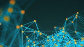 Points abstraits de connexion technologie de planète de téléphone de la terre de code binaire de fond Illustration de Digital Con Images libres de droits