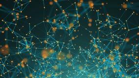 Points abstraits de connexion technologie de planète de téléphone de la terre de code binaire de fond Illustration de Digital Con Image stock