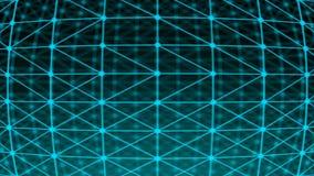 Points abstraits de connexion technologie de planète de téléphone de la terre de code binaire de fond Illustration de Digital Con Photos stock