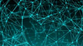 Points abstraits de connexion technologie de planète de téléphone de la terre de code binaire de fond Illustration de Digital Con Photographie stock libre de droits