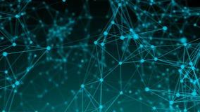Points abstraits de connexion technologie de planète de téléphone de la terre de code binaire de fond Illustration de Digital Con Image libre de droits