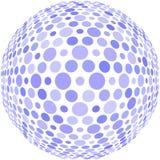 Points bleus sur une sphère Photo stock