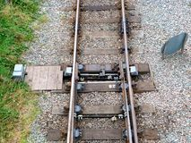 Points. Change tracks at rushcliffe country park Royalty Free Stock Photos