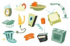 Points colorés 1 de ménage Image stock