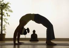 Points culminants de yoga photographie stock libre de droits