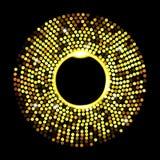 Points d'or abstraits sur le fond noir illustration de vecteur