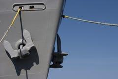 Points d'attache de bateaux Images libres de droits