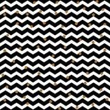 Points d'or d'isolement sur le fond de zigzag La décoration abstraite d'or en baisse pour la partie, anniversaire célèbrent, anni Photographie stock