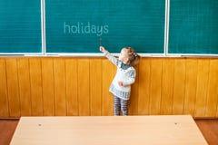 Points d'enfant à un conseil pédagogique photos libres de droits