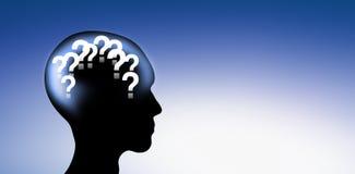 Points d'interrogation dans la tête humaine illustration libre de droits