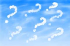 Points d'interrogation dans le ciel illustration libre de droits
