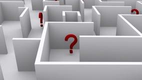 Points d'interrogation dans le labyrinthe illustration libre de droits