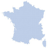 Points de carte de la France Photos stock