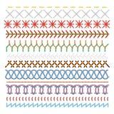 Points de couture colorés ensemble, modèle dans les lignes illustration libre de droits