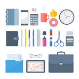 Points 2 de lieu de travail d'affaires et de bureau Photo libre de droits