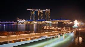Points de Marina Bay d'intérêt Photographie stock libre de droits