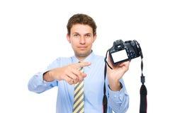 Points de photographe pour vider l'écran arrière de dslr Photos libres de droits