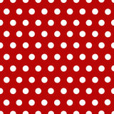 Points de polka blancs avec le rouge Photos stock