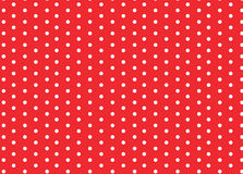 Points de polka blancs rouges Image libre de droits