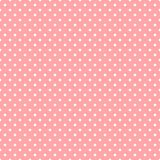 Points de polka blancs sur le fond rose Image stock