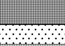 Points de polka de plaid Photos stock