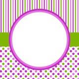 Points de polka et cadre circlular de frontière de rayures illustration libre de droits