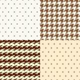 Points de polka et modèle de pied-de-poule Photo stock