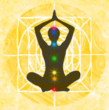 Points de pose et de chakra de lotus Images stock