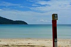 Points de premiers secours sur la plage Photo stock