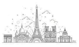 Points de repère architecturaux de Paris Photo libre de droits