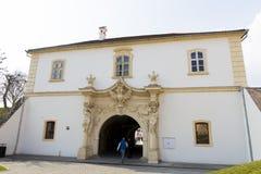Points de repère d'Alba Iulia - porte de forteresse Photos stock