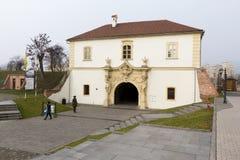 Points de repère d'Alba Iulia - porte de forteresse Photographie stock