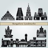 Points de repère de Bangalore illustration libre de droits