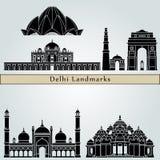 Points de repère de Delhi illustration de vecteur