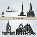 Points de repère de Riga illustration de vecteur