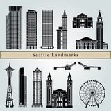 Points de repère de Seattle illustration de vecteur