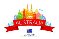 Points de repère de voyage d'Australie illustration stock