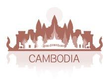 Points de repère de voyage du Cambodge Photographie stock libre de droits