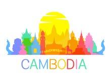 Points de repère de voyage du Cambodge Image libre de droits
