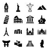 Points de repère des icônes du monde Image stock