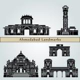 Points de repère et monuments d'Ahmedabad Illustration Stock